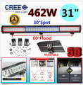 5D 462W 31Inch CREE Chips LED Combo Work Light Bar Offroad Driving Lamp 4WD Pick up