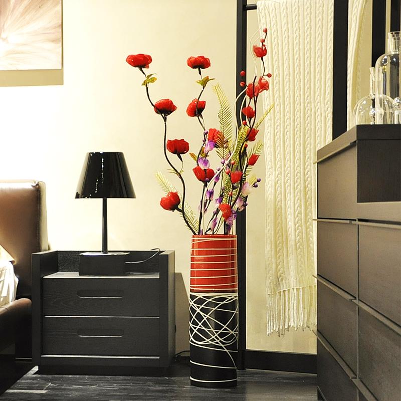Ceramic Soft Fashion Modern Brief Large Floor Vase Crafts