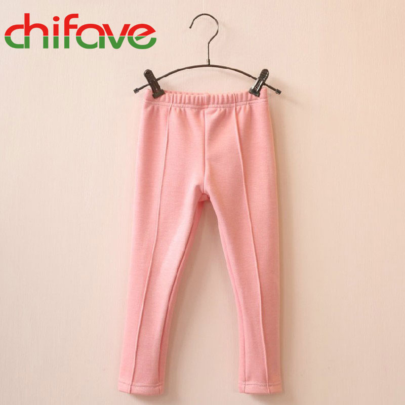 2017 Baby Girls Full Length Pencil Pants Mid Elastic Waist Leggings Solid 8 Colors Kids Girls Thick&Thin Leggings Suit 3-6 Ages(China (Mainland))