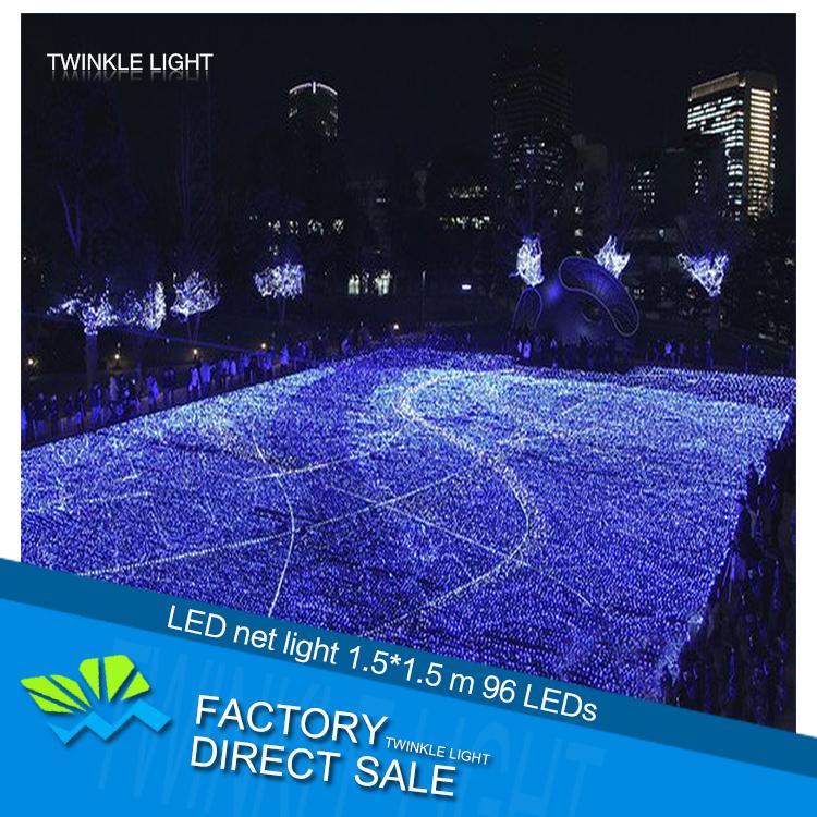 LED string light 220V 1.5m*1.5m 96 LEDs net light waterproof outdoor decorative lights holiday Christmas light free shipping(China (Mainland))