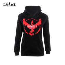 Winter Women Hoodies 2016 New Arrivals Pokemon Go printed Sportswear Fashion Long Sleeve Pullover xxxl sweatshirtt tracksuit