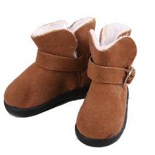 [ wamami ] nueva Brown botas bajas de nieve / zapatos para 1/4 MSD DOD BJD Dollfie(China (Mainland))