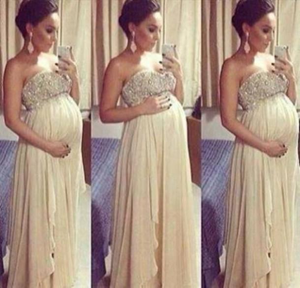 Evening Dresses Pregnant Women A-Line Chiffon Sweetheart Floor-Length Sleeveless Long Prom abendkleider - DIYdresses Ltd. store
