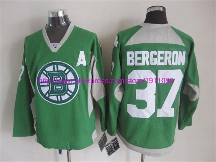 2015 New Boston Bruins Mens Jerseys #37 Patrice Bergeron Black Ice Hockey Jersey High Quality Assurance!