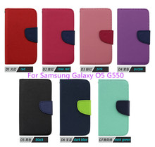 2015 fashion Newest Luxury PU Leather Cover Samsung Galaxy O5 G550 BY FREE DHL (xkm) - NO.2 Case store