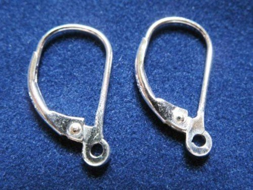 100 Pairs 925 Sterling Silver Findings Lever back Earring Supplies
