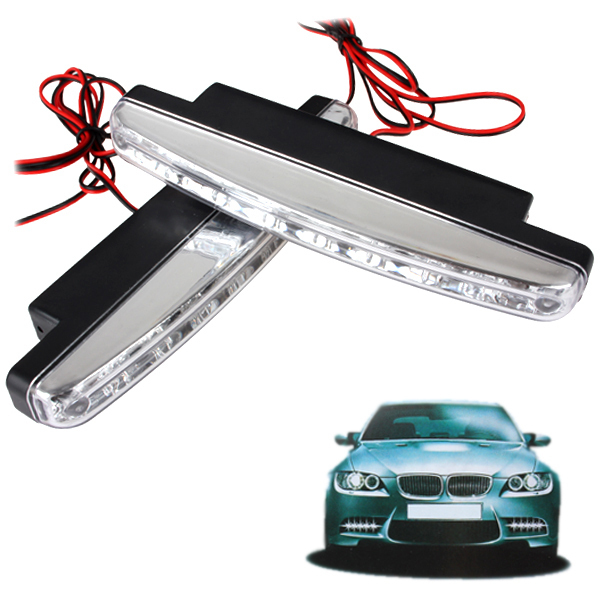 5pairs 8 LED Universal Auto Car DRL LED Daytime Running Light Auxiliary Lamp High Power with Super White Light(China (Mainland))