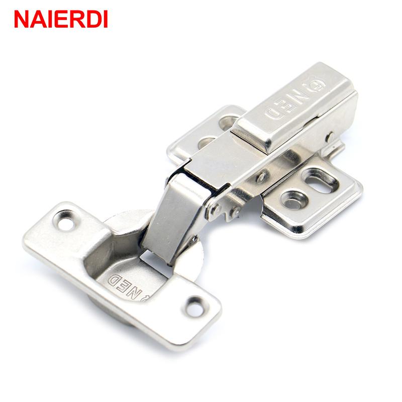 NAIERDI Hinge Rustless Iron Hydraulic Hinge Iron Core Damper Buffer Cabinet Cupboard Door Hinges Soft Close Furniture Hardware(China (Mainland))