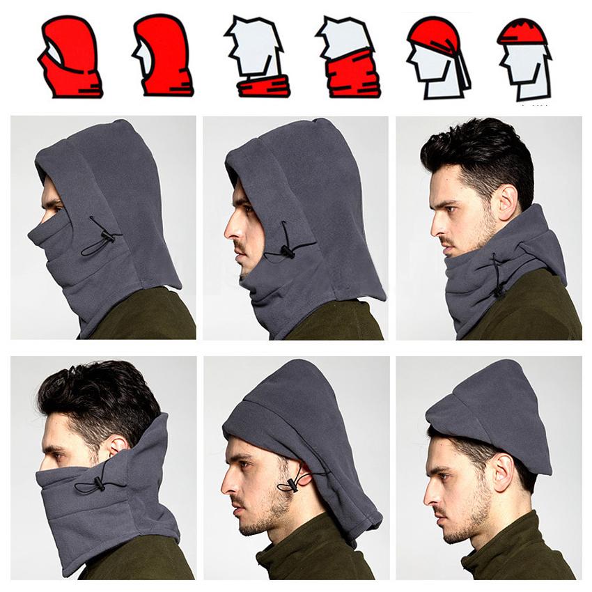 Thermal Fleece Balaclava Hat Hooded Neck Warmer Winter Sports Face Mask For Ski Snowboard Bike Motorcycle Helmet Cap(China (Mainland))
