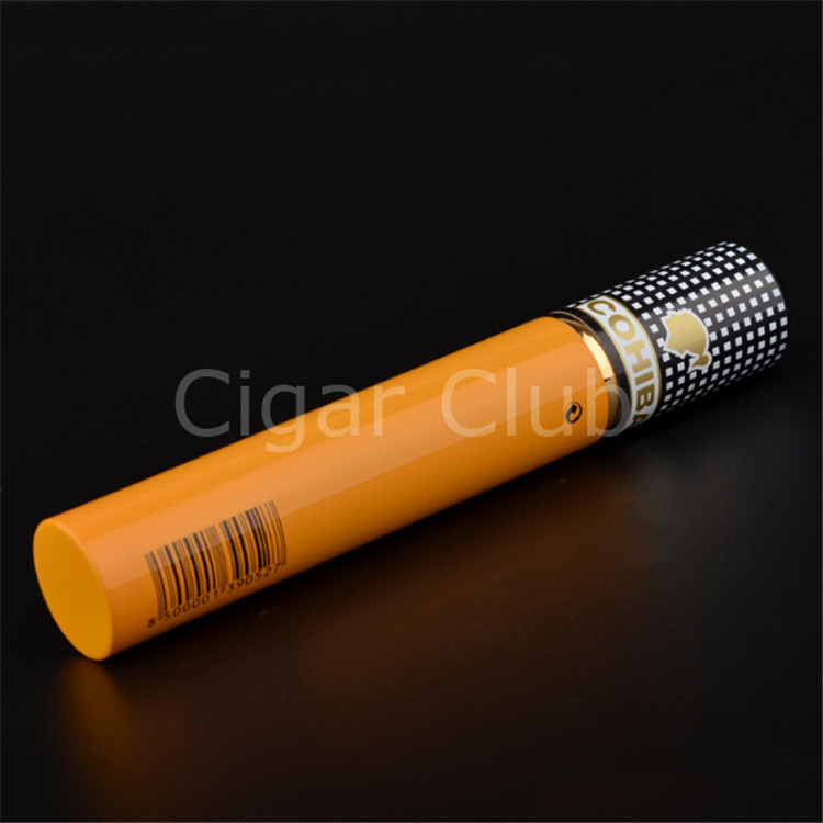 Cohiba Classic amarelo Siglo VI alumínio charuto tubo titular com madeira de cedro de charuto acessórios fornecedor(China (Mainland))