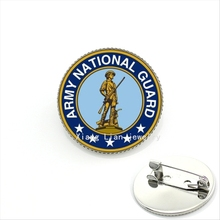 The high quality oddly military brooch Army national guard soldiers with long gun photo fashion jewelry for men and boys  MI010(China (Mainland))