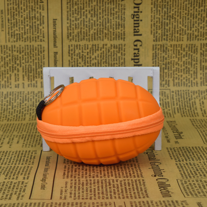 Hot Sale Silicone Coin Purses Wallet Cute Hand Small round toy kid gift Hand Grenade Zipper Women Bag(China (Mainland))