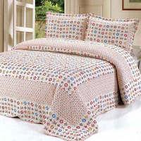 2015  good quality 105-2colorful prewash bedcover bedding set