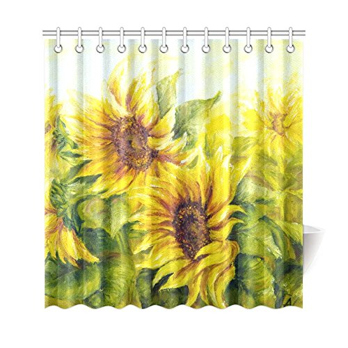 Sunflower shower curtain hooks products