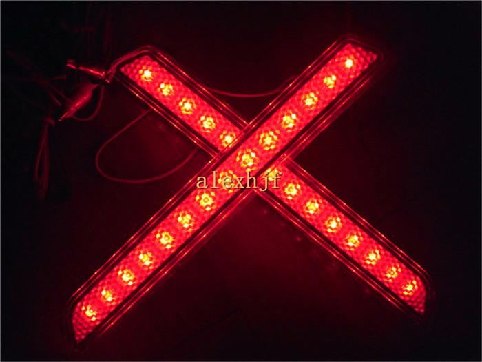 Car LED Brake Lights + Night Running Light case for Mazda 2 3 6 8 ATENZA AXELA, Car Rear Bumper Fog Lamp, 1set/lot(China (Mainland))