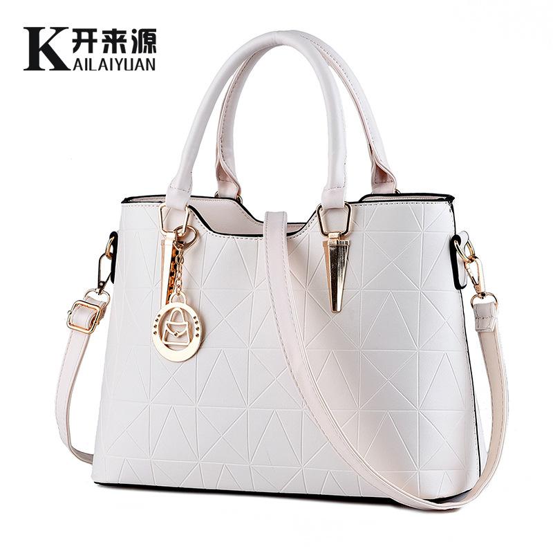 Women bag PU 2016 fashion sweet Various colors shoulder crossbody bag handbag(China (Mainland))