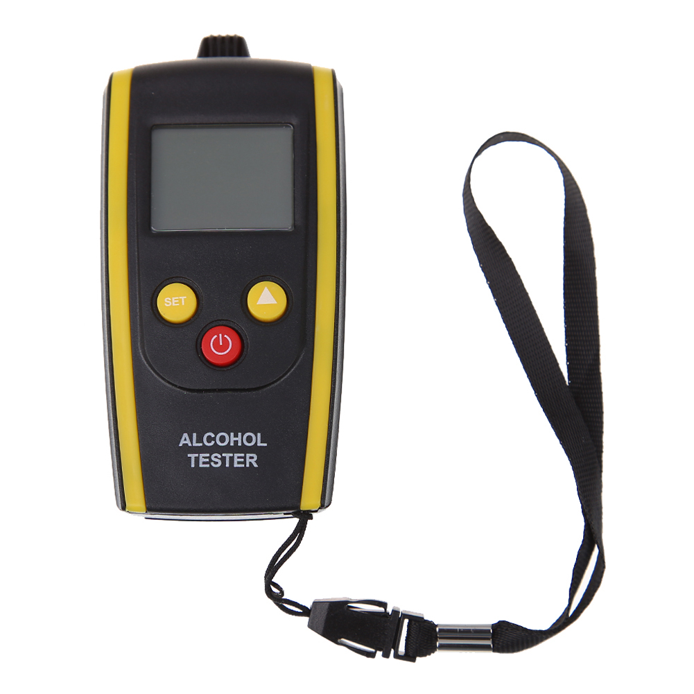 Portable LCD Digital Alcohol Tester Quick Response Breathalyzer Breath Analyzer Alcotester Detector with Backlight Display(China (Mainland))