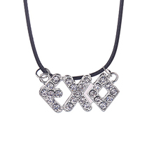 EXO With Paragraph Statement Necklace Inlay Rhinestone Necklaces & Pendants Tao Lay Choker Summer Jewelry bijoux boho colares(China (Mainland))