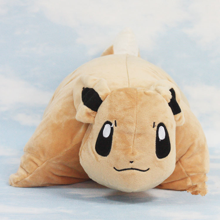 EMS 10pcs/lot 38*33cm Pokemon Eevee Plush Doll Toy Children Gift Eevee Pillow Cushion Retail Dropping<br><br>Aliexpress