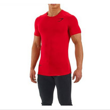 Men's gym shirt, gold's powerhouse gym gorilla wear t-shirts men fitness bodybuilding exercise coth, terry high elasticity