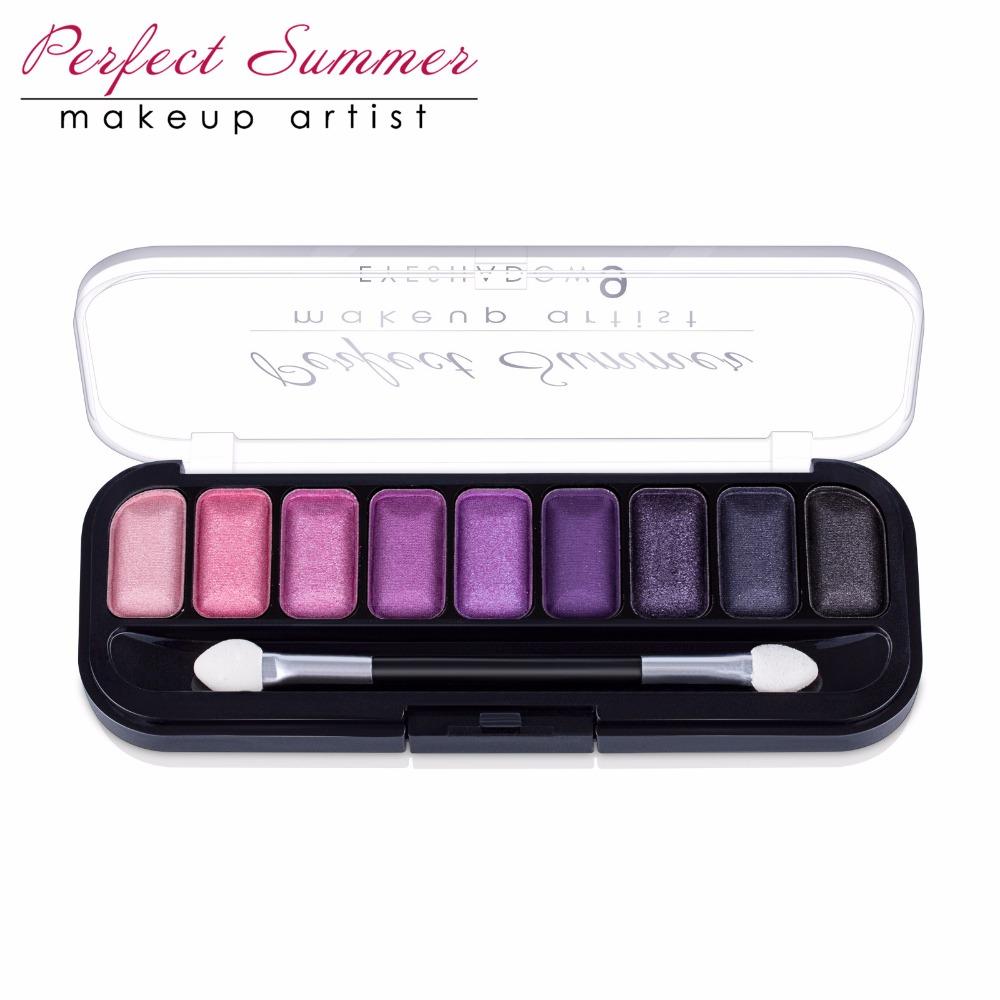 Perfect Summer Eye Shadow 9Color Palette Makeup Eye Shadow Kit High Quality Long Lasting Eye Shadow Beauty Makeup Popular Choice