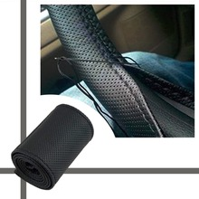 Buy 2017 New Universal braid steering wheel Sew Microfiber car steering wheel cover cover entire single connector 38cm for $2.37 in AliExpress store