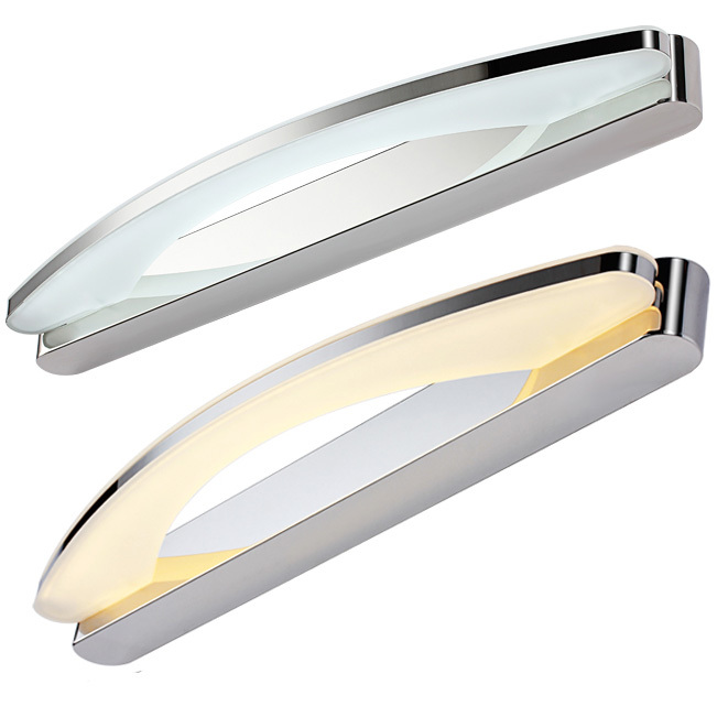 Free shipping Modern LED mirror light wall lamp for makeup bathroom high quality 8-15W Stainless steel&amp;Acrylic LED mirror lamp<br><br>Aliexpress