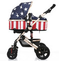 2016 New High Quality Fashion Baby Stroller Portable Widen Seat Light Weight Baby Stroller 3 in