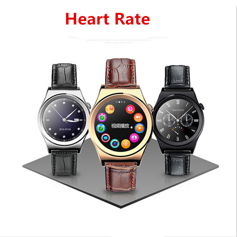 Smart Watch X10 Sports SmartWatch Heart Rate Monitor Fitness Tracker Gunine leather Mobile Wristwatch for Android IOS PK g3 dz09(China (Mainland))