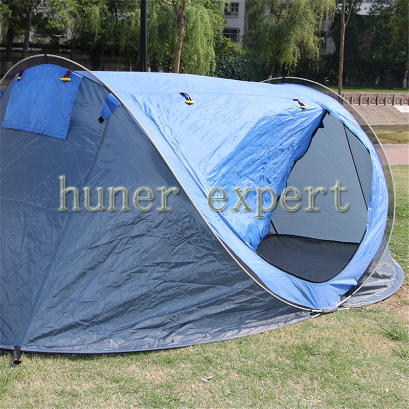 Outdoor Camping Tent Blue Fast Open Hiking Fishing Tens for 1-2 Persons with Light Weigh & Carrying Bag(China (Mainland))
