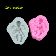 Buy 90*75*20mm Baby angel shape silicone mold fondant cake chocolate decoration mould baking tools for $4.74 in AliExpress store