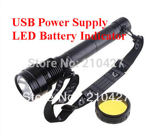 Free Shipping 85W HID XENON FLASHLIGHT TORCH 8500LM TACTICAL Spotlight(China (Mainland))