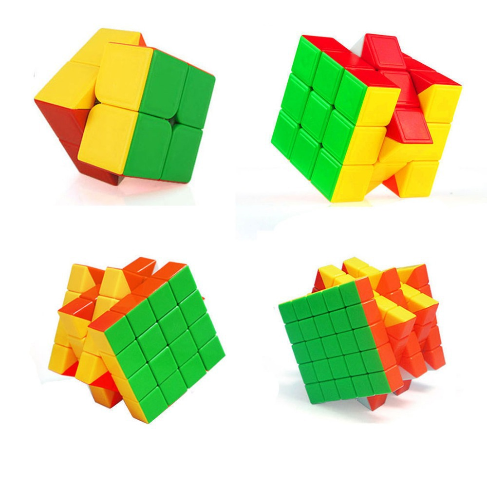 Classical twist puzzle cube set of 2*2 3*3 4*4 5*5 ture color magic cube(China (Mainland))