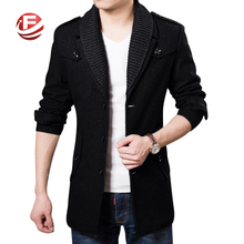 2016 Business Men Casual Warm Coats Size M-3XL Good Quality Single Breasted Design Thicken Man Fashion Wool Clothings(China (Mainland))