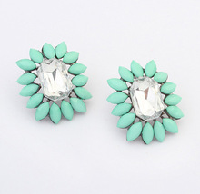Korean version of the fine European and American fashion earrings wholesale candy-colored wild earrings cxt904424
