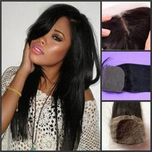Grade 6A Hair Silk Closure 4×4 inch Straight Chinese/Mongolian Hair Lace Closure Can be Dyed silk-017