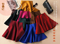 2014/2015 Fall Winter Women Umbrella Skirt New Fashion Functional Wool Blended A-line Double Side Knitted Mini Skirt 5 Colors