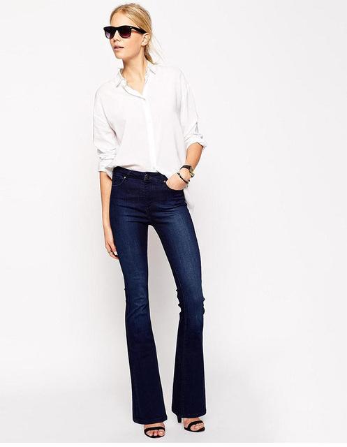 2015 осень новинка старинные вспышки клеш джинсы женщина вспышки брюки джинсы роковой ...