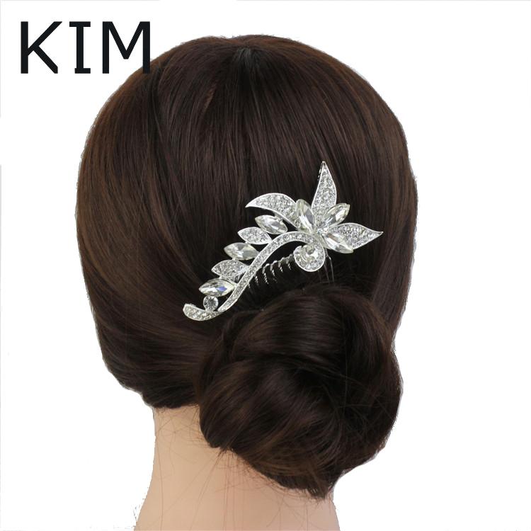 Delicate wedding accessory exquisite Wedding Hair Comb Bridal Hair Comb Bridal Head Piece Decorative Comb(China (Mainland))