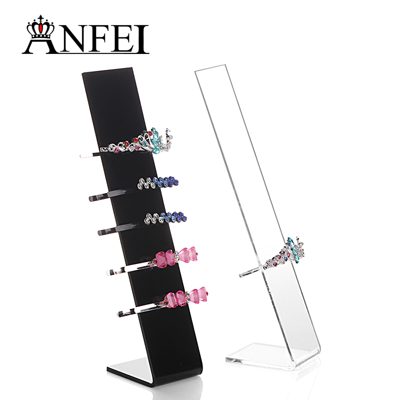 10 Pieces / Lot New Design Acrylic Hairband Holder Fashion Hair Clip Display Shelf Headbands Stand Designer Organizer(China (Mainland))