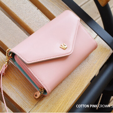 Crown Smart pouch Wallet Mobile phone Bag case for Sony Xperia ( Z3 / Z4 / Z1 / Z2 / Z5 / Compact mini ) E4g M2(China (Mainland))