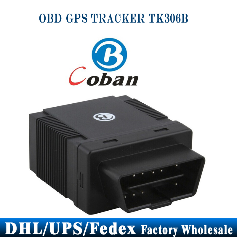 DHL UPS 50pcs/lot Coban 306B TK306B Car GPS Tracker OBD2 ACC Alarm 2.4G Attendance Mangement Auto(China (Mainland))