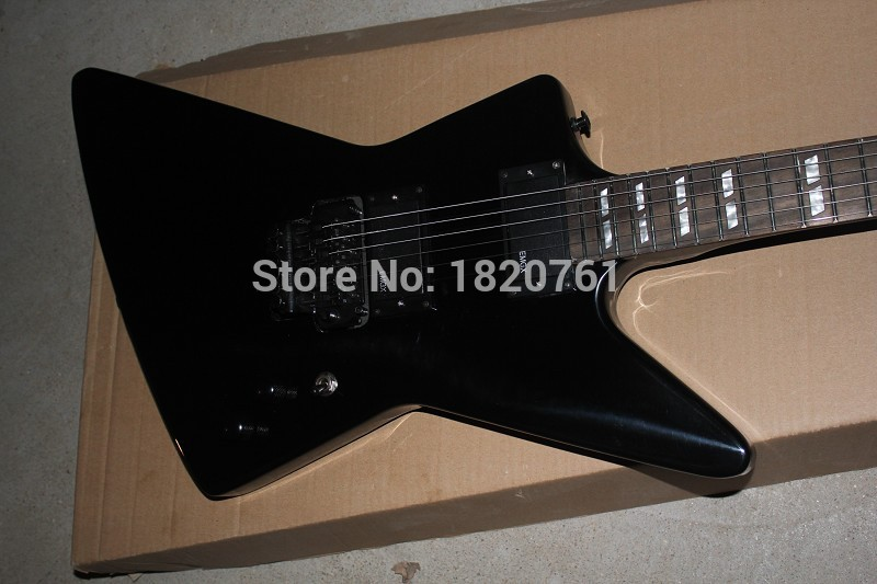 Free Shipping Werewolf Fingerboard+ ESP Custom EMG Active Pickup Black Explore James Hetfield Electric Guitar 14510(China (Mainland))