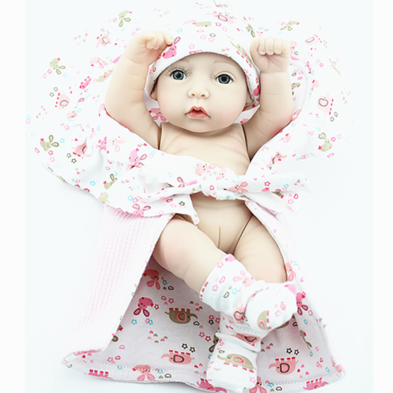 "[PCMOS] 2016 New 11"" Lively Vivid Girl Newborn Baby Infant Dolls Silicone Vinyl Reborn Baby Doll Free Shipping 3138(China (Mainland))"