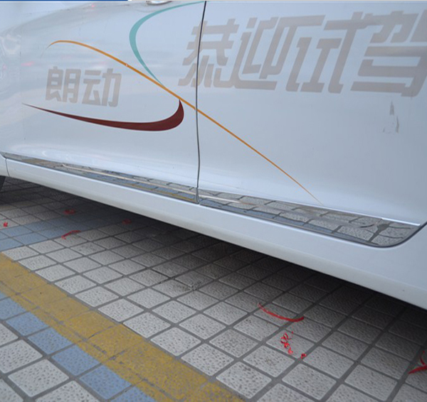 Car Body Strip Stainless Steel Door Moulding Cover for Hyundai Elantra 2012(China (Mainland))