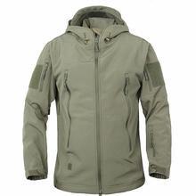 Tactical Gear Shark Skin Softshell Outdoor Army Jacket& Military Pants Waterproof Camouflage Hunting CampingThermal Fleece Coat()