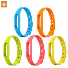צבעונית מקורית רצועת סיליקון צמיד Miband 1 & 1 S Xiaomi Mi חכם להקת אביזרי צמיד להחלפה Smart Band חגורת