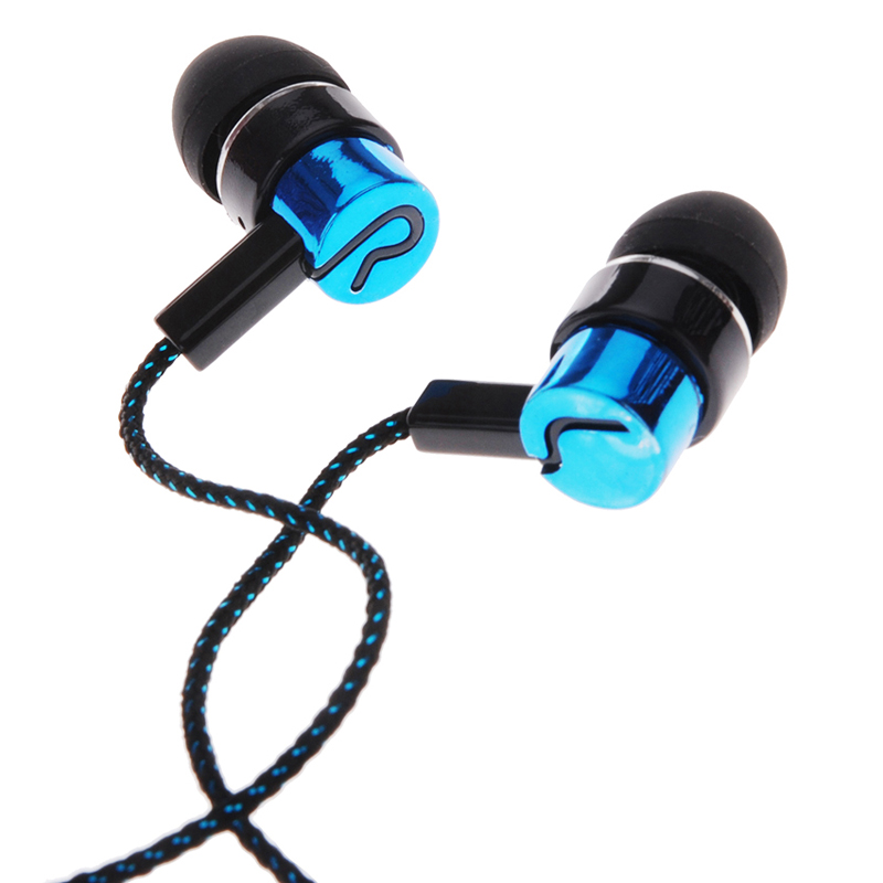 3.5mm Fiber Cable Headset Stereo Earphones Earbuds Earpieces Noise Isolating For MP3/4 Music Player, Mobile Phones, Tablet PC(China (Mainland))
