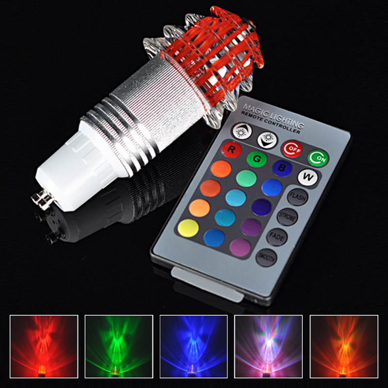 16 Colors LED Light 360 Degree GU10 Green Red Blue Led Bulb Lamp RGB Led Spotlight AC85-265V+ IR 24 Remote Control, 4 Mode(China (Mainland))