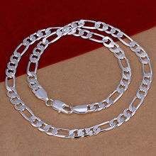 Wholesale Free Shipping men jewelry new fashion silver big chain 8MM 20 inch Necklace YSN018